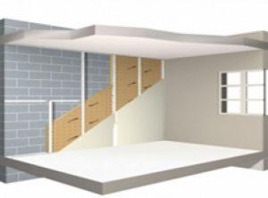isolation sol par le plafond